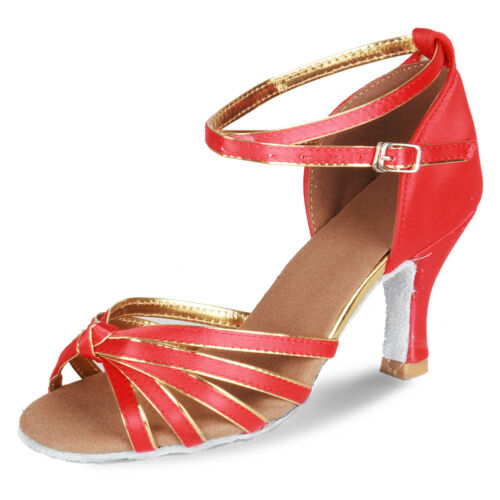 Women Girl lady/'s Ballroom Tango Latin Dance Dancing Shoes heeled Salsa 11 Color