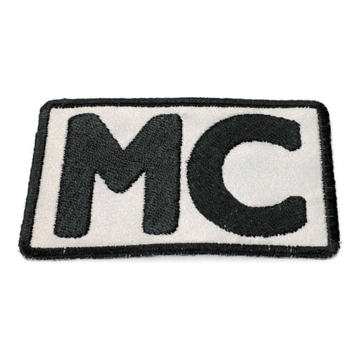 Embroidered Reflective MC Motorcycle Club Sew or Iron on Patch Biker Patch