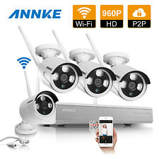 ANNKE Wireless 960P 4CH DVR NVR WFIF Home Security IP Camera Network System HDMI
