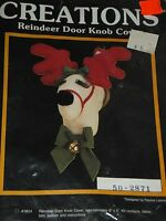 Creations Reindeer Door Knob Fabric Cover Kit