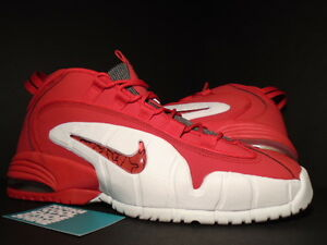 2014 Nike Air Max PENNY ONE 1 FIRE UNIVERSITY RED WHITE BLACK 685153-600 DS 13