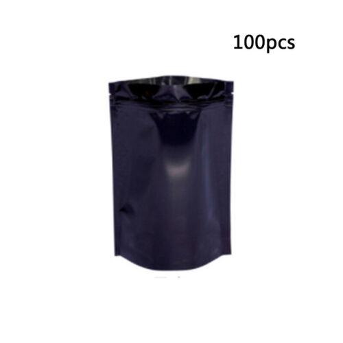 100Pcs Multi-Color /& Size Aluminum Foil Zip Lock Pouch Food Storage Bag New
