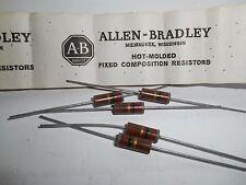 82 Ohm 1 Watt 5% Allen Bradley Composition Resistor 5 Pieces  OEM PARTS!!
