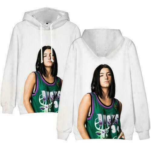 Men Women Casual Hoodie Charli D/'Amelio Print Tops Hooded Pullover Sweatshirt