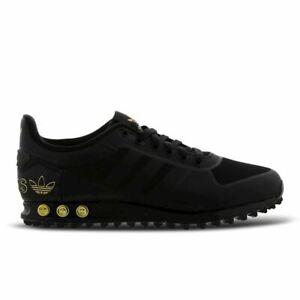 Original Adidas La Trainer II Core Black Gold Trainers F36903   eBay