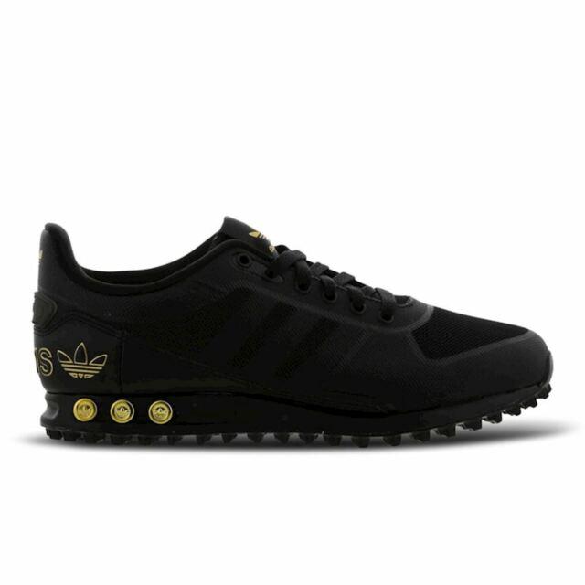 adidas la trainer black and gold