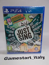 JUST SING - SONY PS4 - NUOVO SIGILLATO NEW
