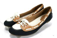 ed0c116569b Cole Haan Air Gabi  105 Women s Canvas Lace-Up Loafers Shoes Size 8B Black