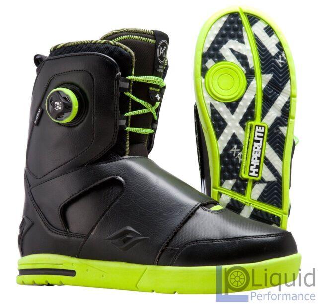 Hyperlite State Wakeboard Bindings Boots, Small Mini. Grey