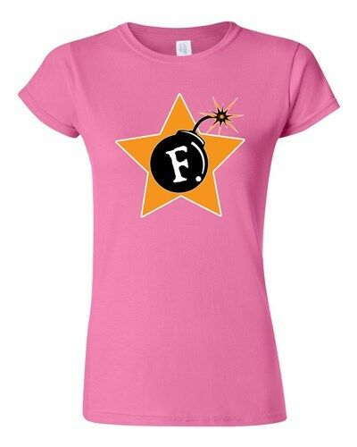 Junior F Bomb Word Funny Humor Novelty DT T-Shirt Tee