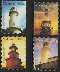 (310)MALAYSIA 2004 HISTORICAL BUILDINGS--LIGHT HOUSES SET FRESH MNH