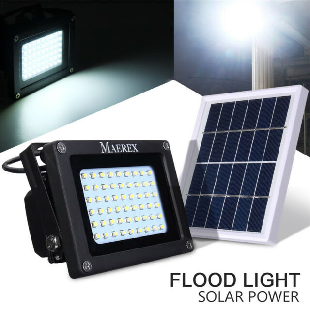 Solar 54 LED Light Sensor Flood Spot Lamp Garden Outdoor Security