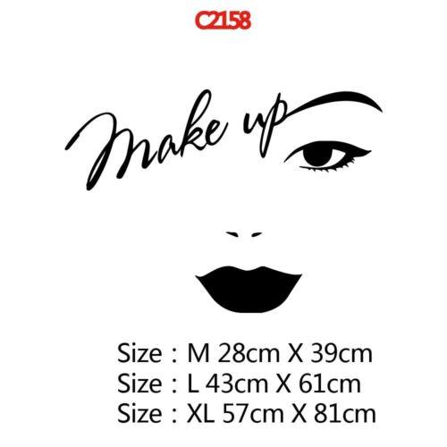 Makeup Wall Sticker Vinyl Decor Girls Bedroom Beauty Salon Decoration Removable