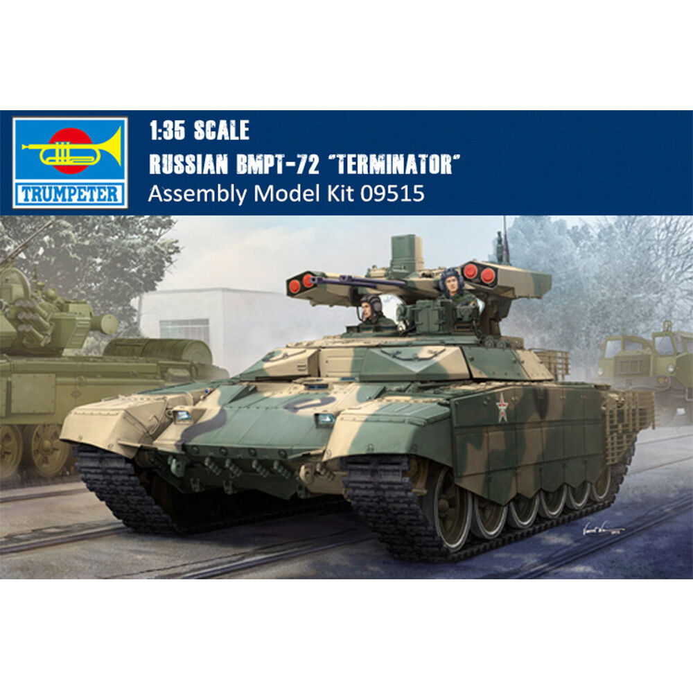09515 Trumpeter 1 35 Model Russian BMPT-72 Terminator-2 Plastic Armored Car Kit
