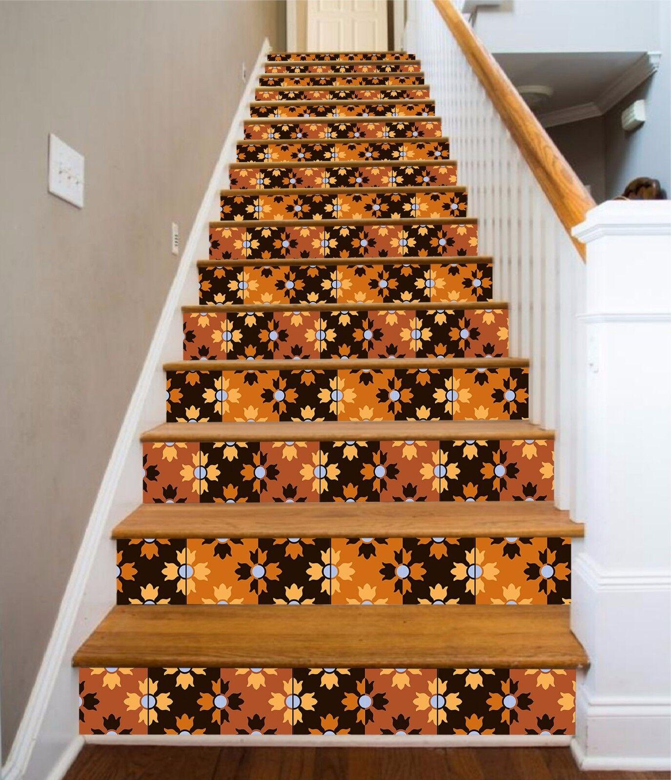 3D Muster 48 Stair Risers Dekoration Fototapete Vinyl Aufkleber Tapete DE Lemon