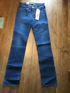 Pantalon Bnwt Femme Levis Designer Strauss Denim Jeans 714 0013 Droit 21834 Y7vfyb6g