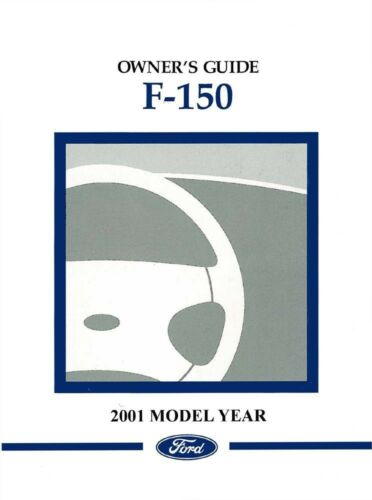 2001 Ford F-150 F150 Truck Owners Manual User Guide Operator Reference Book