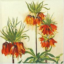 4x Paper Napkins for Decoupage Decopatch Craft Fritillaria