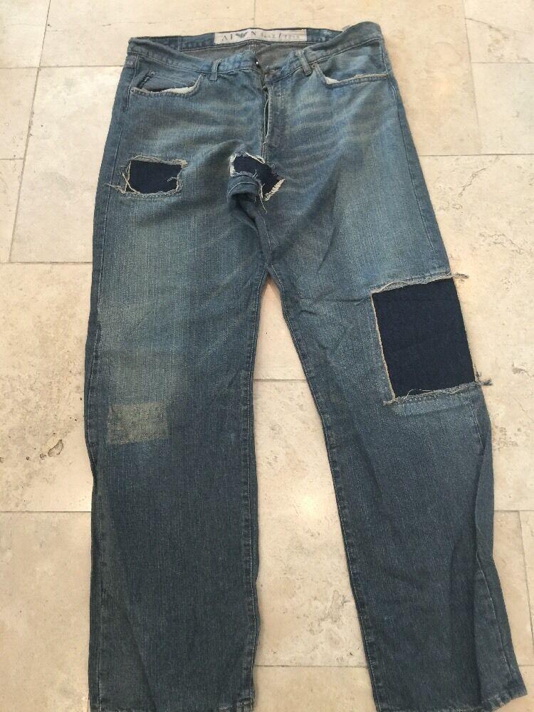 Armani Jeans Men's Fades bluee Jeans Trousers