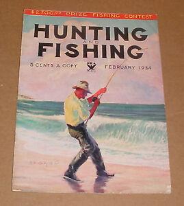 2 1934 hunting and fishing magazine for Hunting and fishing magazine