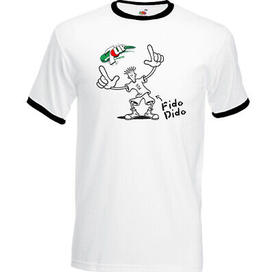 Fido Dido T-Shirt Mens Retro 7Up Fizzy Drink Coca-Cola