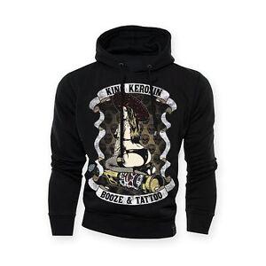 Sweat Shirt A Capuche Homme King Kerosin Bozie Tatouage Biker