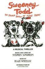Applause Musical Library: Sweeney Todd : The Demon Barber of Fleet Street by Stephen Sondheim and Hugh Wheeler (2000, Paperback)