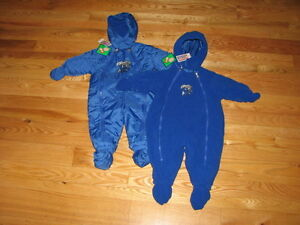 b19c86b3 Details about New UK Kentucky Wildcats Baby Fleece Snowsuit Jacket Size 18M  18 Mo Boys Girls