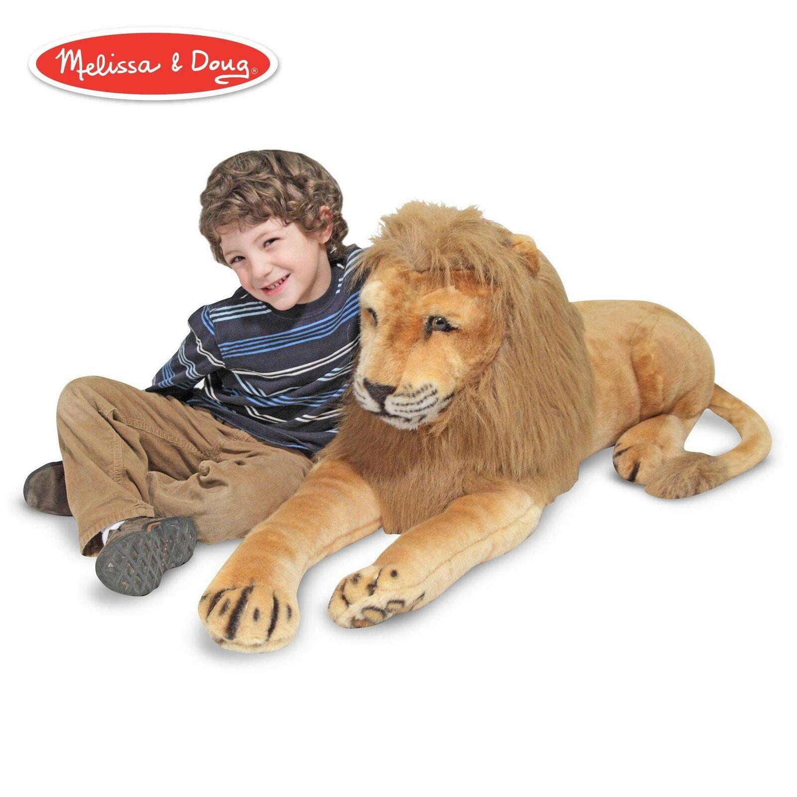 Leon De Peluche Gigante Gigante Gigante (fauna, cara real, tela suave, 22   buena calidad