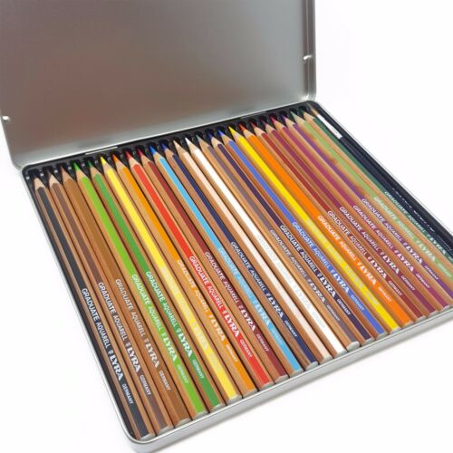 Graduate Aquarell Tin of 24 with Brush Lyra Watercolour Pencils