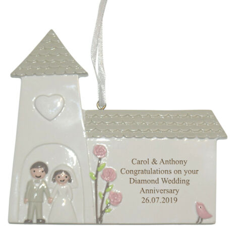 Wedding Anniversary Personalised Engraved Gift Diamond 60th