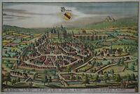 Baden Baden - Merian - Originale Stadtansicht von 1643