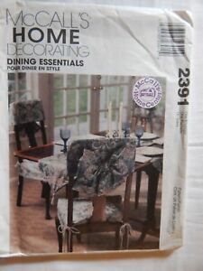 Tablecloth-Chair-Cover-McCalls-2391-Dining-Essentials-Home-Sewing-Pattern-UC