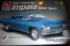 AMT ERTL 1967 CHEVROLET IMPALA SUPER SPORT 1/25 SS Model Car Mountain FS