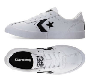 f6789fc1b6e7b1 Image is loading Kids-Converse-Breakpoint-White-Leather-Ox-Chuck-Taylor-