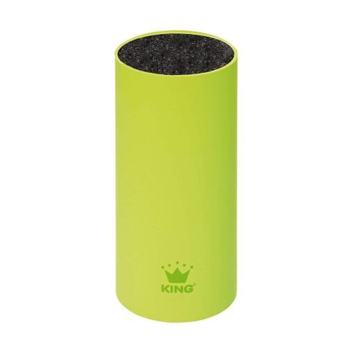 KING Single Messerblock soft touch 23 x 12 cm rund grün griffig schlicht