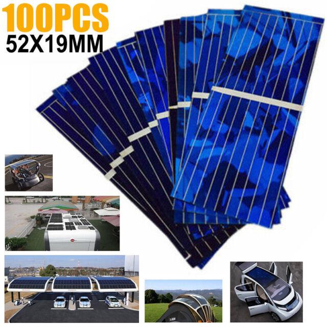 100pcs Solar Panel Solars Cell 0.5V 320mA 52x19mm DIY Battery Charge Tool Set#