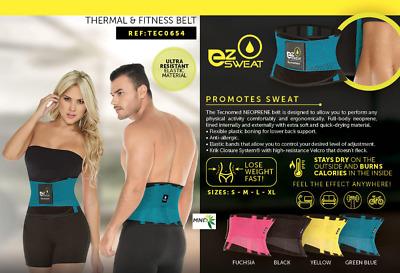 TECNOMED YELLOW Fitness Thermo Waist Shaper ORIGINAL CINTURILLA XTREME BELT REDU