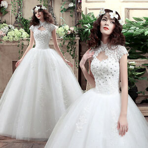 Vintage Turtleneck Beaded Lace Deco. Wedding Dresses Bride\'s Bridal ...