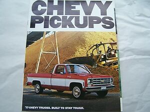 Image Is Loading 1977 Chevy Pickup Truck Owners S Brochure In