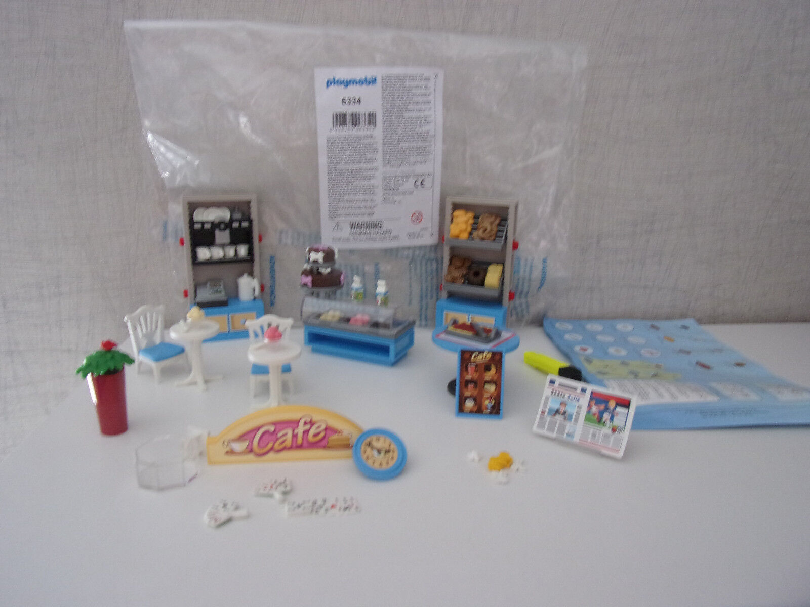 Playmobil Additions & Accessories 6334 Cafe-Einrichtung - New