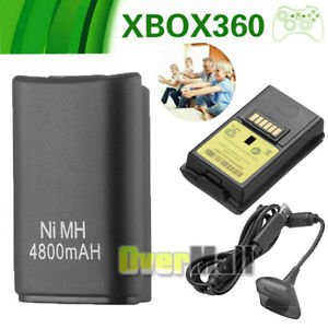 Wireless-4800-mAh-Rechargeable-Remote-Controller-Battery-Pack-for-Xbox-360-Black