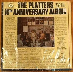 The Platters 10th Anniversary Album - Mercury Records LP MG 20933 MONO red label