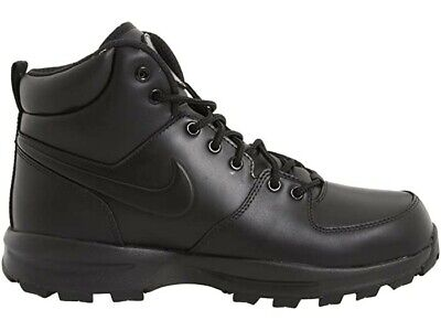 nike manoa black leather work sneaker boots men's casual