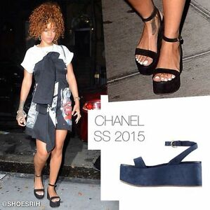 $875 New Chanel Black Suede Quilted CC
