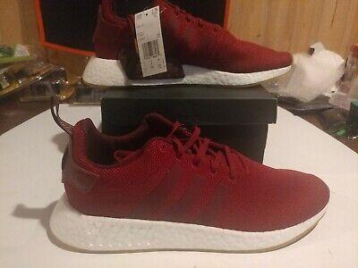 adidas NMD R2 Burgundy Red Maroon White Gum CQ2404 Men/'s Running Shoes Boost