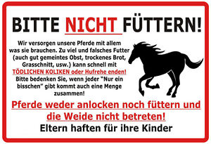 Horses-Please-Not-Fed-Tin-Sign-Shield-7-7-8x11-13-16in-F0301