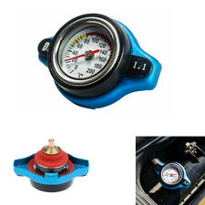 Blue 1.1 Bar Thermo Thermostatic Radiator Cap Cover Water Temperature Gauge New(Fits: More than one vehicle)