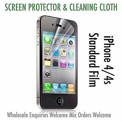 Iphone 4 4s Screen Protector & Cleaning Cloth Wholesale Bulk Job Lot x 100