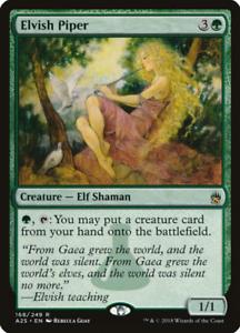 Elvish Piper Green Masters 25 MTG Creature